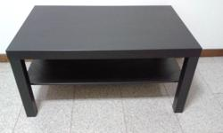 kea Lack black brown coffee table in 8./10 condition.