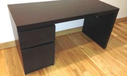 IKEA Desk (model MALM) with drawer and cabinet (without
