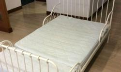 IKEA Minnen Extendable Bed and Vyssa Mattress Perfect