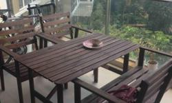 IKEA Outdoor Solid Wood Dining Set Set includes: table