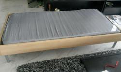 Ikea single bed with mattress L197 x W100 x H40 cm