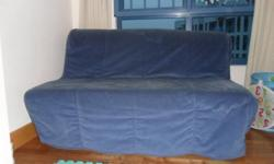 Selling our ikea sofa bed including mattress and blue