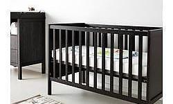 IKEA Sundvik Baby Crib / Cot & Guard rail & Mattress -