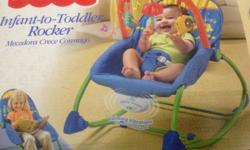 INFANT To Toddler SOOTHING Vibrations Rocker, FEEDING