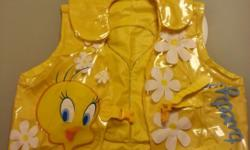 Inflatable swimming jacket (yellow with Warner Bros