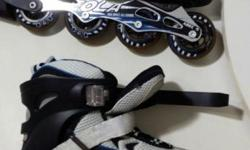 Used and in good condition inline skates. Collect at