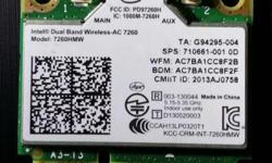 The Intel® Dual Band Wireless-AC 7260 802.11ac, dual