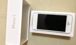 iPhone 5 : white (16GB) Use (1y/o) Full set with free