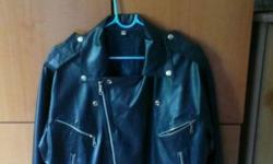 Smart looking leather jacket for sale. In good
