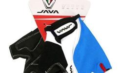 Java Cycling Half Gloves CH10 - Blue/White S$24 (For