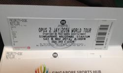 Jay Chou Nov 2014 Concert Cat2 Ticket Pair ( 4 tickets