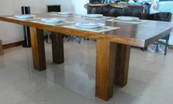 Incredibly beautiful teak table by John Erdos. Also