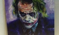 Movie Artpiece in Canvas - The Joker - With frame - For