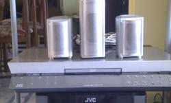 JVC , DVD amp, sub woofer and five speakers, Front,