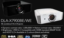 JVC DLA-X7900B 4K 3D HDR THX ISF Home Cinema Projector