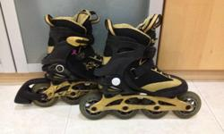 In-lane skates in good condition, hardly used. Close up
