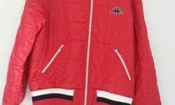 Kappa Dark Red Windbreaker In excellent condition Ptp