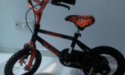 "Kent 12"" Child Bike with training wheels and bell."