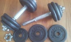 Kettler Cast-iron barbell and dumbbell set 2 dumbbell