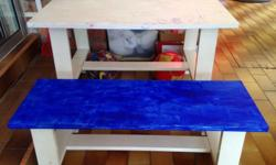 To give away: Pre-loved Kid's table and bench great for