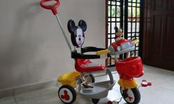 My tri cycle is mickey bought at kiddy palace for