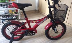 A very good kids bicycle is for sale. Nice red colour
