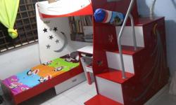 We are selling our used double bed bunk bed which has