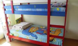 Ikea bunk beds for sale. Painted in enamel paint.1
