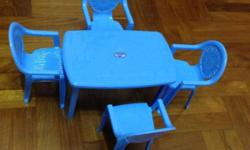 Kids chair table play set. Letting go go S$8. Self