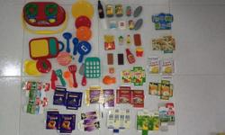 Used Kitchen make believe play lot. Includes everything
