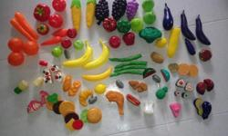 Used make believe vegetable meat play lot. Includes