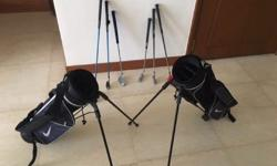 2 x sets NIKE bag + Clubs (Driver, Iron & Putter). 1st