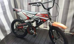 "A cool motorcross 16"" BMX bicycle for children. Used a"