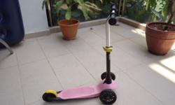Lovely pink kids scooter for sale - my daughter turning