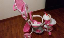 Kids tricycle for sale. Used. Working condition. Pink