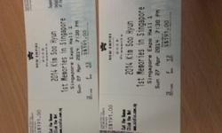 2 cat 2 ticket to let go, original price is 191,
