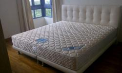 King Koil essential premiere mattress with bed frame.