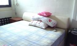 Colour creme. Mattress in good condition except the