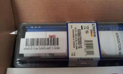2 pieces of the above ram , Kingston DDR2-667 1GB $10