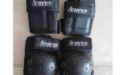 Knee and Elbow Guards for skating (Scorpion brand).