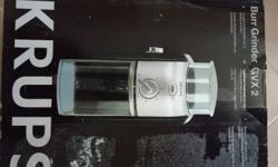 Brand new in box Krups coffee grinder. Never been used.