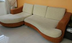 L Shaped fabric sofa for sale. Self collect at Pasir
