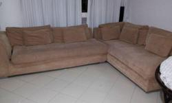 Used L Shape fabric sofa for immediate sale at