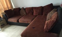 Used L shaped sofa 114 inch length L side 78 inch