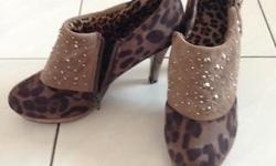 "Color: Brown Size: 37 Heel height: 2"" Condition: 9/10"