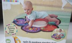 Colourful Mat invites baby to play and learn. Rotating