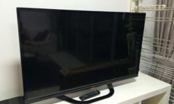 Beautiful, large, flat screen TV, with smart sound