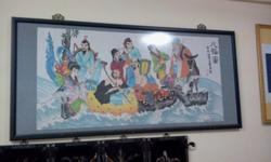 "Fully hand embroidery ""8 immortals"" painting Large"
