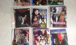 Latest DVDs for comedy/horror/war for clearance.Hp