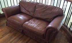 Beautifully aged leather sofa in great shape. Removable